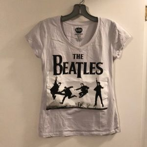 The Beatles dove gray v-neck tee